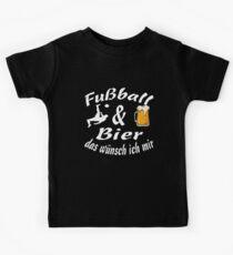 Fußball Bier Geschenk Funny Lustig bild Kinder T-Shirt