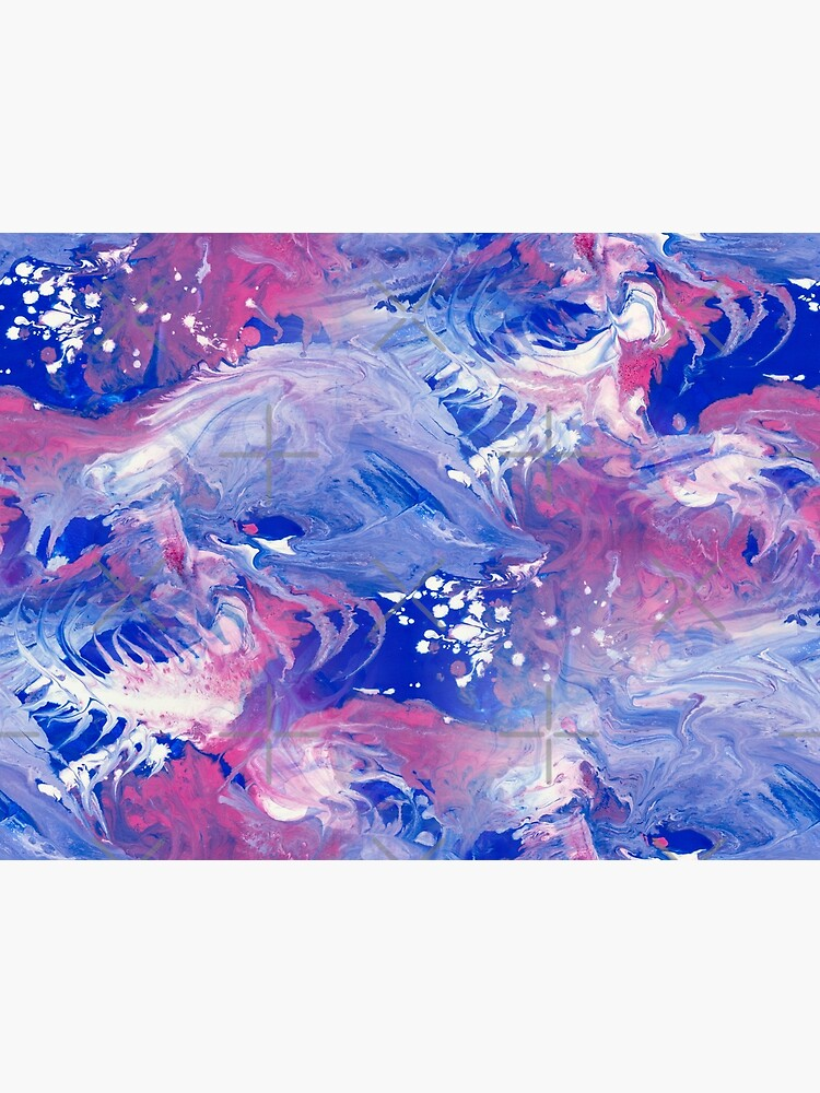 Pink and blue finger Painting Pattern by nobelbunt