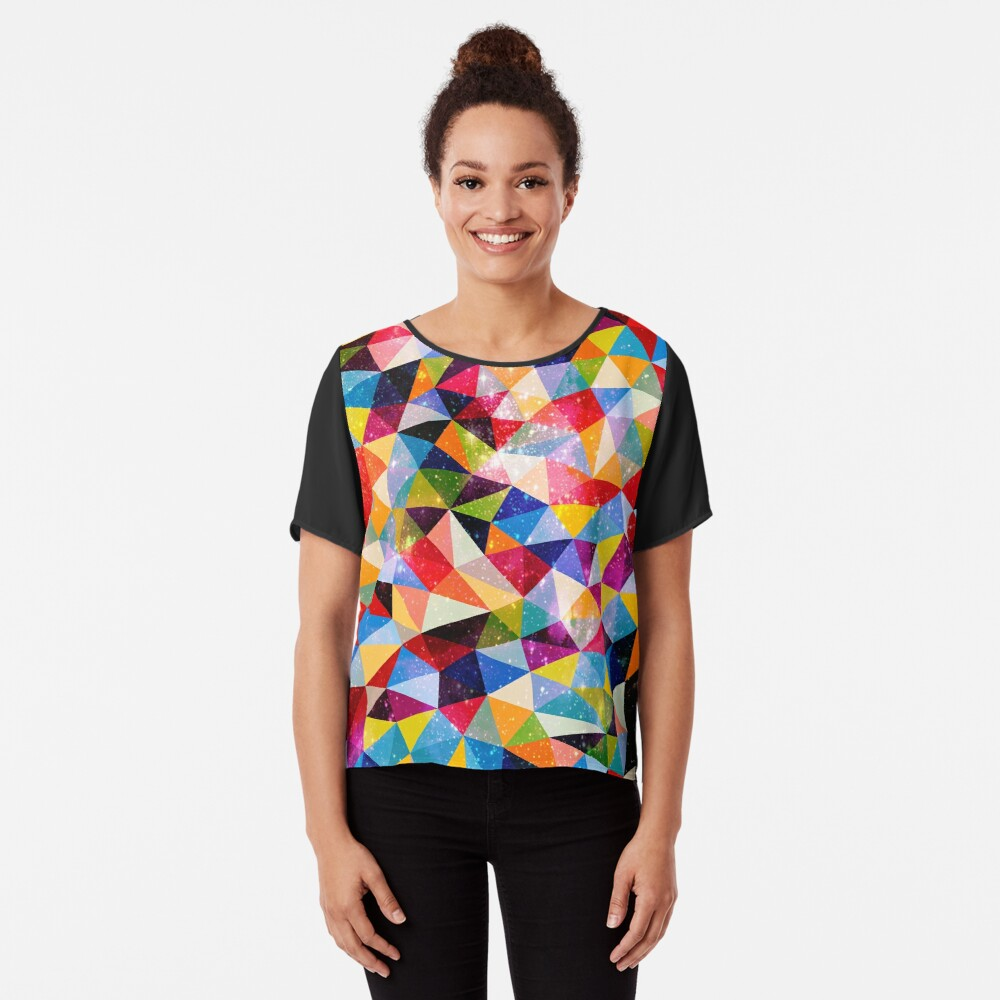 Space Shapes Chiffon Top