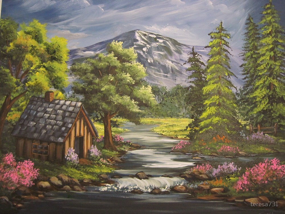 Cabin By the Stream by teresa731