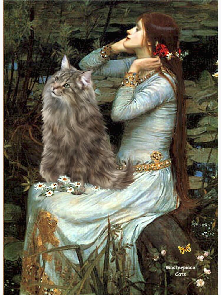 """Famous Art:  """"Ophelia"""" (Waterhouse)-Norwegian Forest Cat by JeanBFitzgerald"""