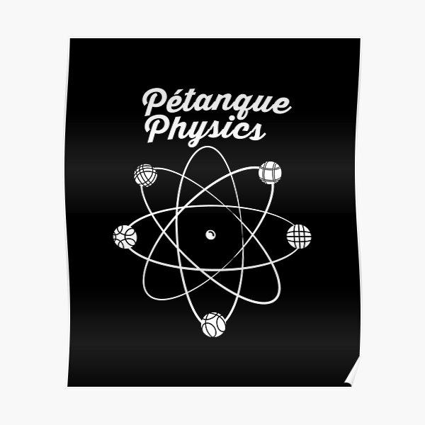 Atom drôle de pétanque avec pétanque et boules Poster