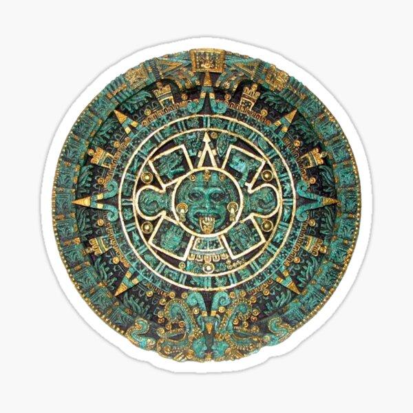 AZTECA. Calendario. En color. Pegatina