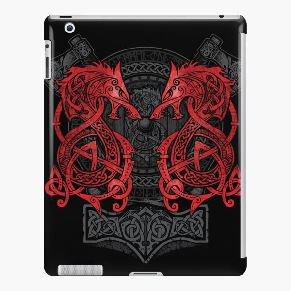 Fighting Fenrir Red iPad Snap Case