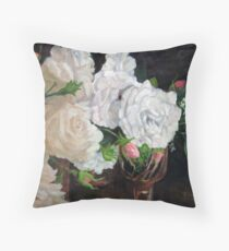 Scent of Roses Throw Pillow