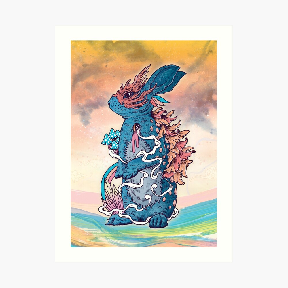 Lucky Rabbit Art Print