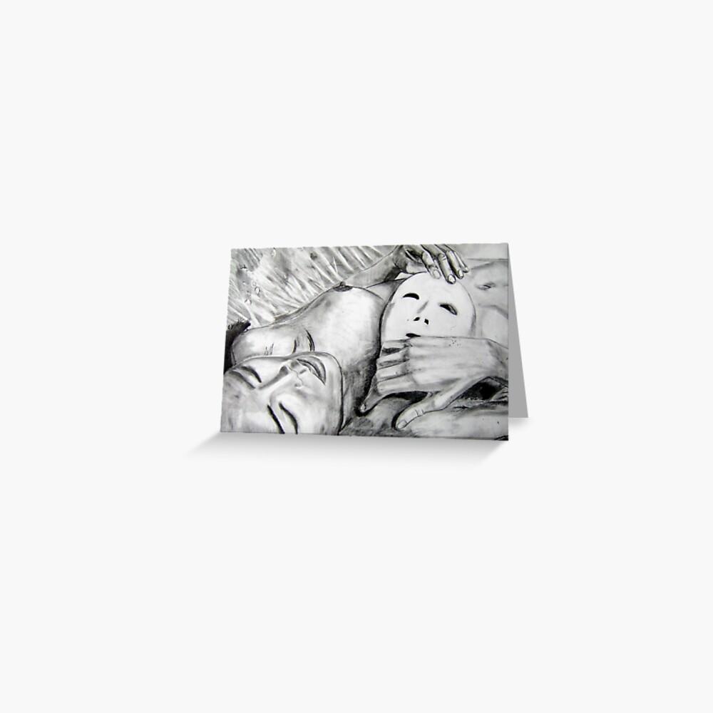 Mask - Drawn Greeting Card