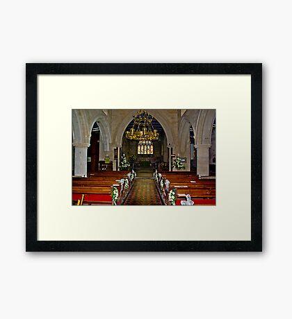 Slingsby Church Interior Framed Print