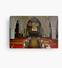 Slingsby Church Interior Metal Print