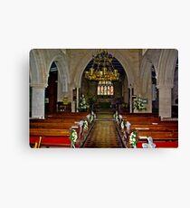 Slingsby Church Interior Canvas Print