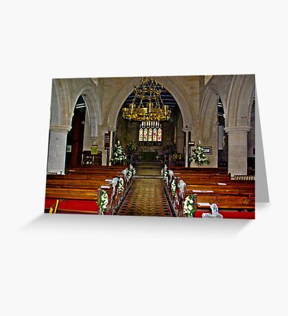 Slingsby Church Interior Greeting Card
