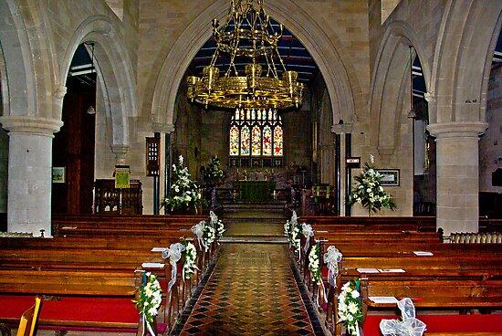 Slingsby Church Interior by Trevor Kersley