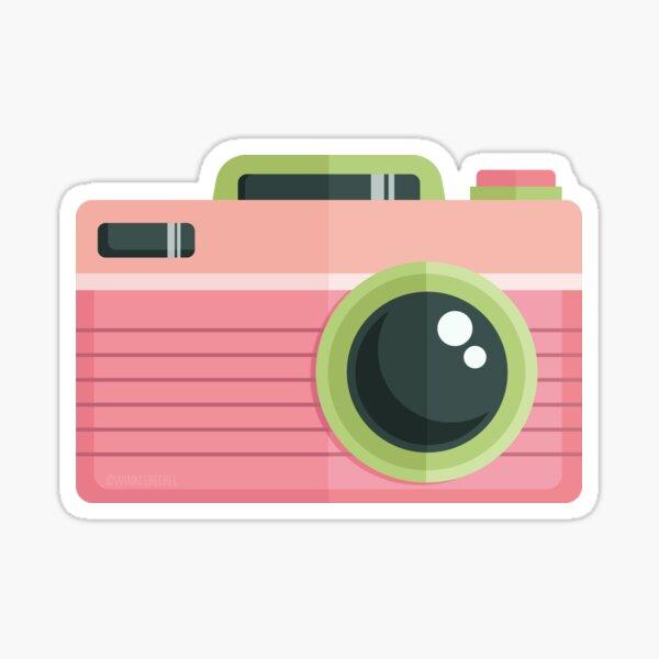 Vintage Camera: Pink Limeade Sticker