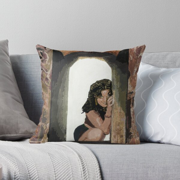 Waiting at the Window Throw Pillow