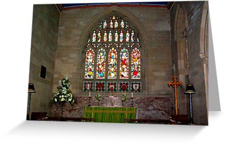 Slingsby Church Window by Trevor Kersley
