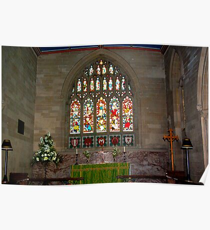 Slingsby Church Window Poster