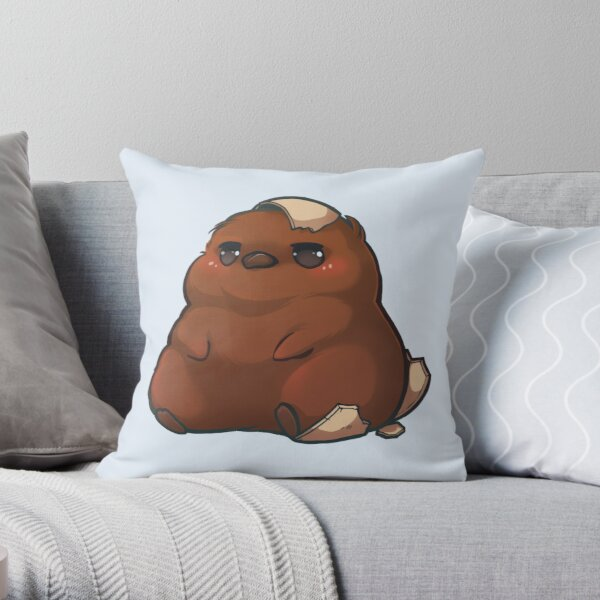 chuBBY king penguin baby Throw Pillow