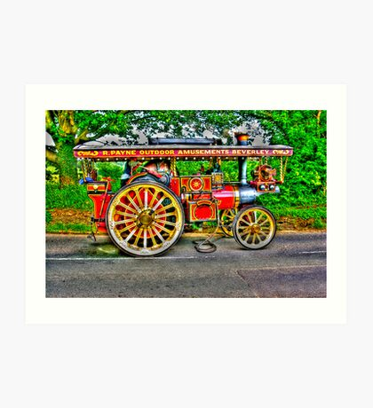 Steam Traction Engine #1 HDR Art Print
