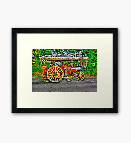 Steam Traction Engine #1 HDR Framed Print