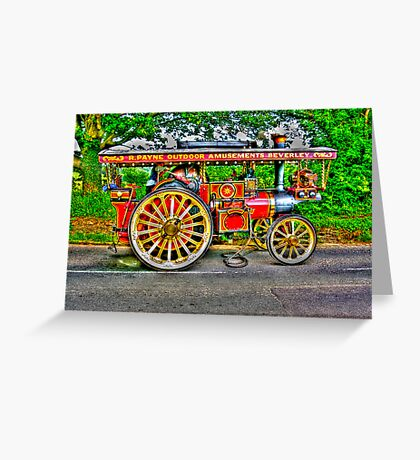 Steam Traction Engine #1 HDR Greeting Card