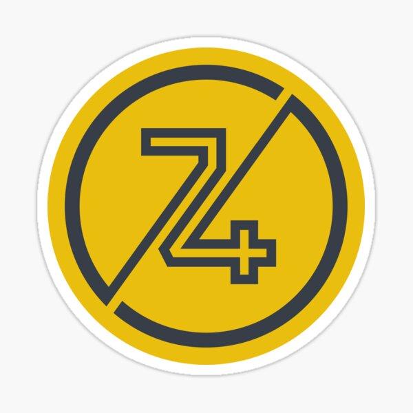 NUMBER 74 Sticker