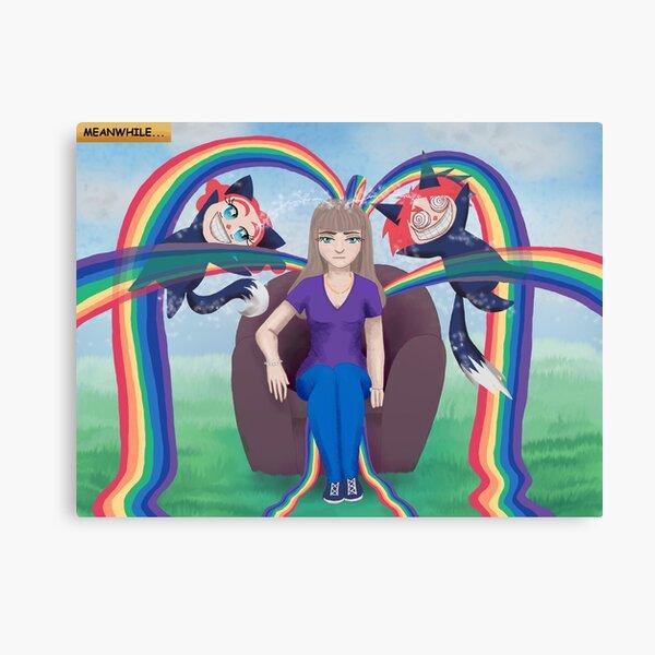 Leaking Rainbows Canvas Print