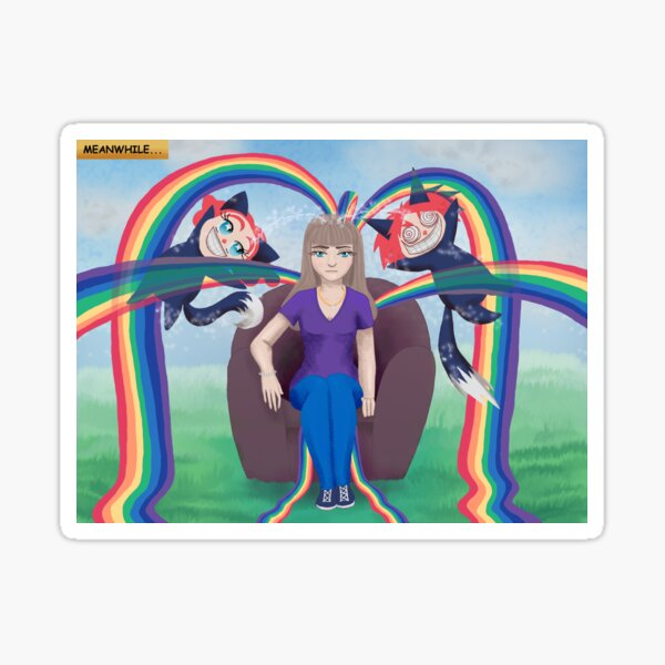 Leaking Rainbows Sticker