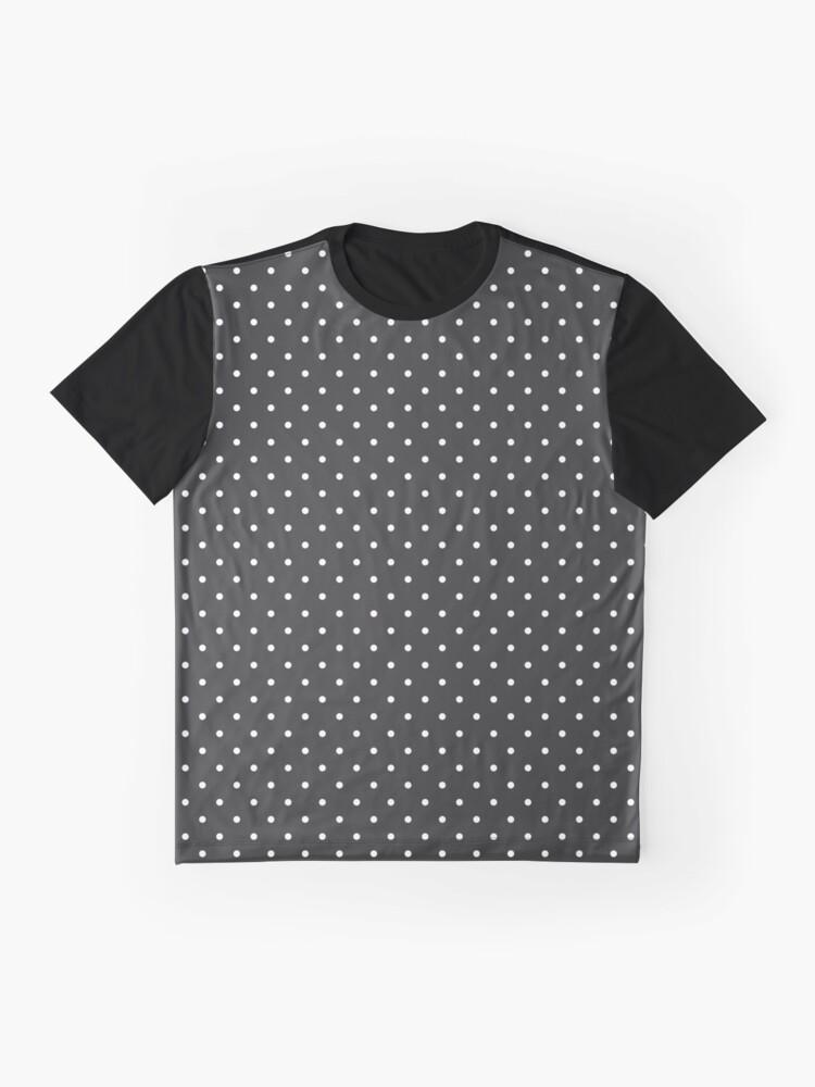 Vista alternativa de Camiseta gráfica Carbón de leña punteado