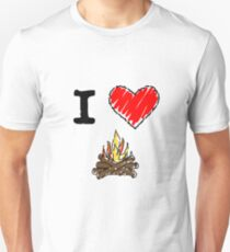 I Love to Camp Unisex T-Shirt
