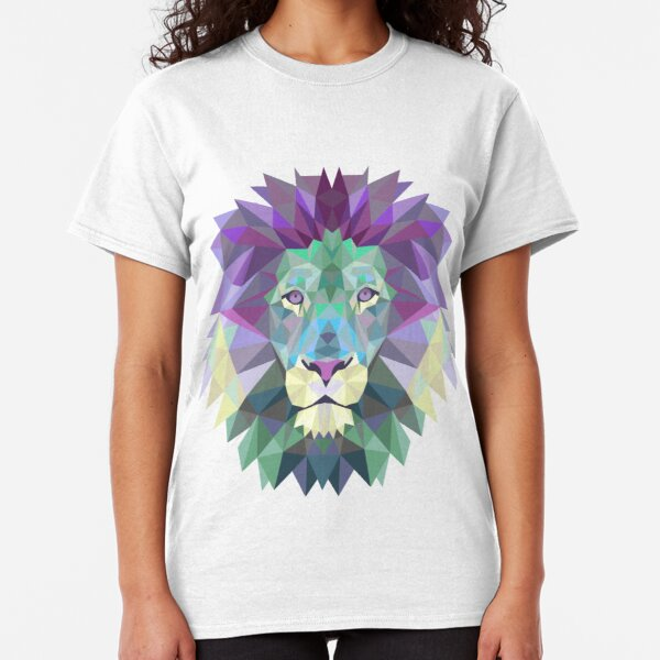 Polygonal Lion Head Classic T-Shirt