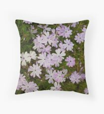 Green and Purple Watercolor Floral Pattern Floor Pillow