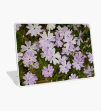 Green and Purple Watercolor Floral Pattern Laptop Skin