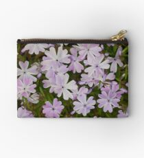 Green and Purple Watercolor Floral Pattern Zipper Pouch