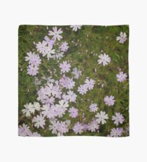 Green and Purple Watercolor Floral Pattern Scarf