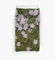 Green and Purple Watercolor Floral Pattern Duvet Cover