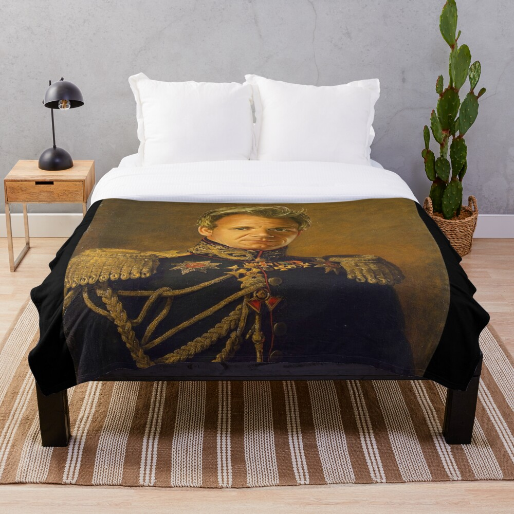Gordon Ramsay - replaceface Throw Blanket