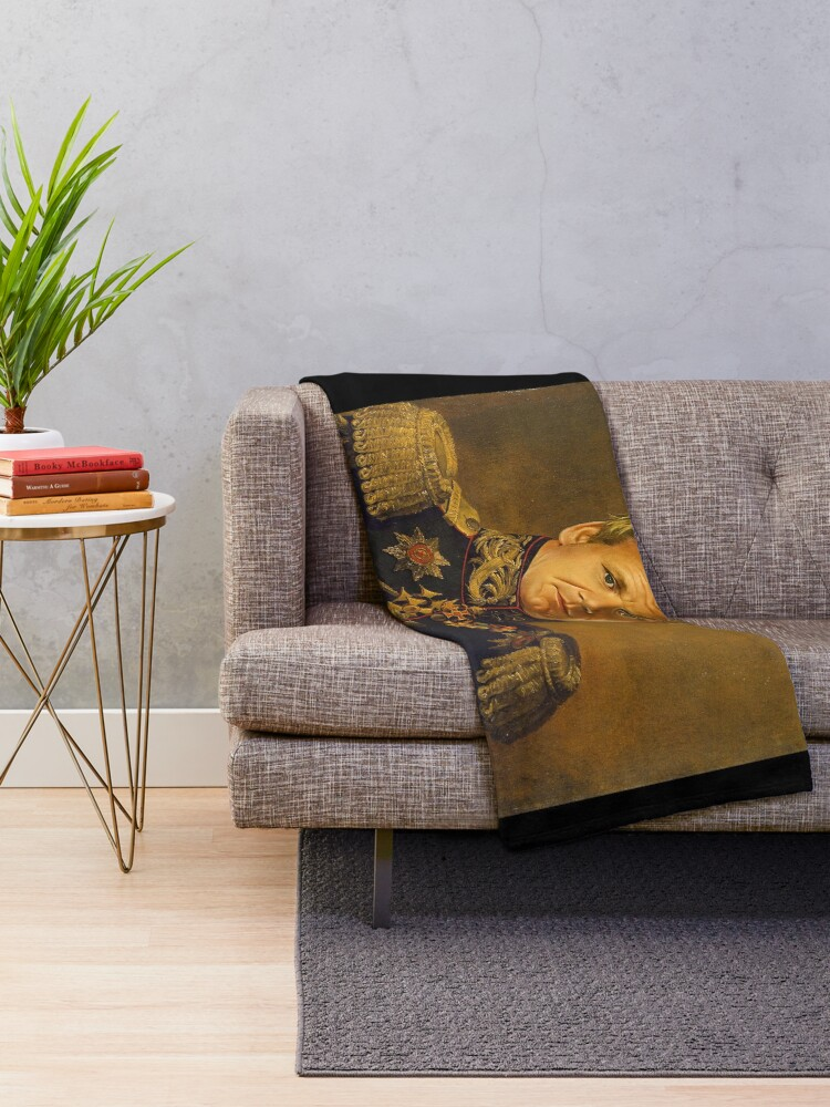 Alternate view of Gordon Ramsay - replaceface Throw Blanket