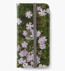 Green and Purple Watercolor Floral Pattern iPhone Wallet/Case/Skin