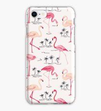 Flamingo Bird Retro Background iPhone Case/Skin