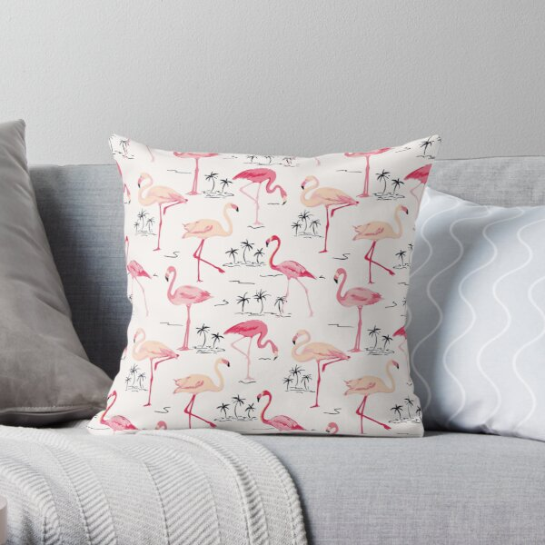 Flamingo Vogel Retro Hintergrund Dekokissen