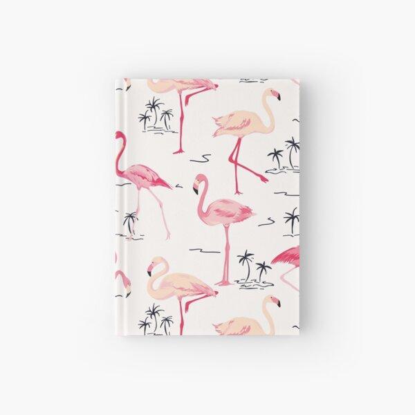 Flamingo Bird Retro Background Hardcover Journal