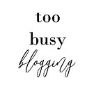Too busy blogging by Selflovescript