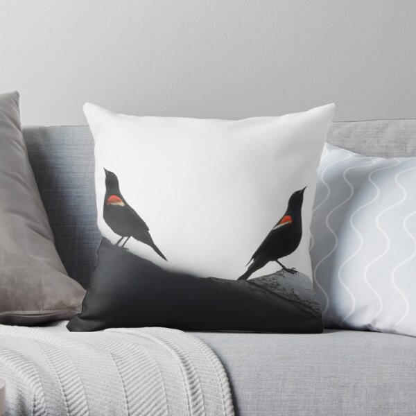 Red-Winged Blackbird Males Throw Pillow