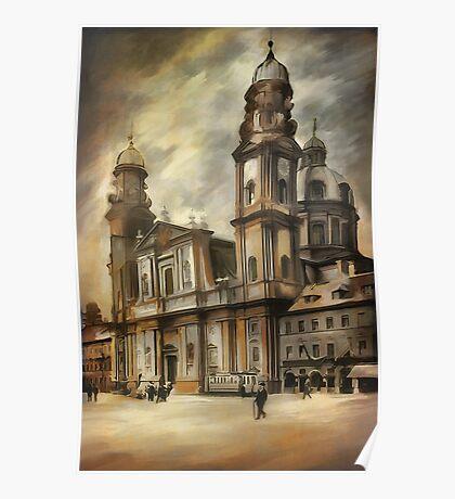 Theatine Church, Munich 1900 Poster