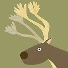Startled Reindeer by HeliconHill