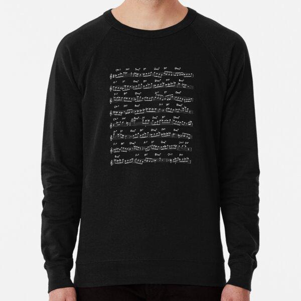 John Coltrane Solo on Giant Steps (light design) Lightweight Sweatshirt