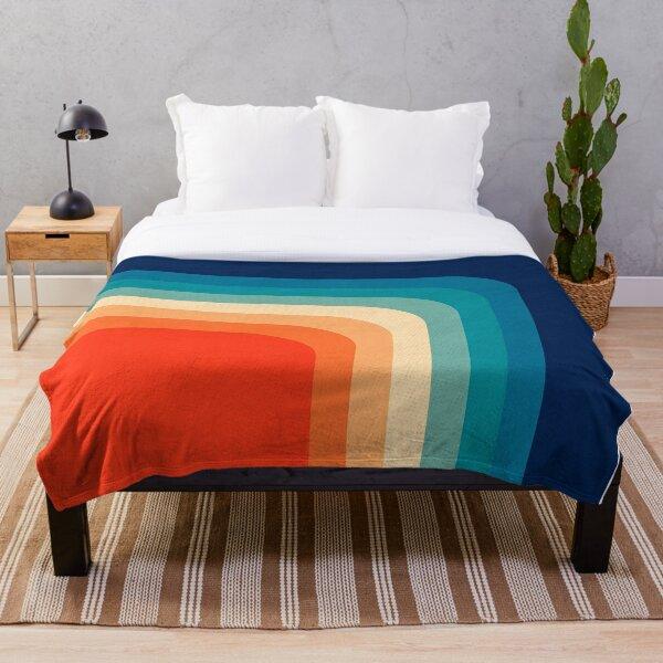 Retro 70s Color Palette III Throw Blanket