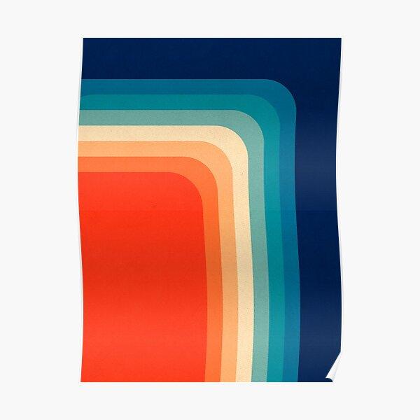 Retro 70s Color Palette III Poster