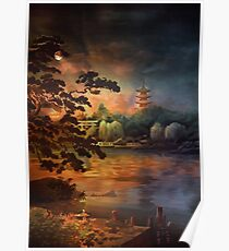 Magic of Japanese gardens. Poster