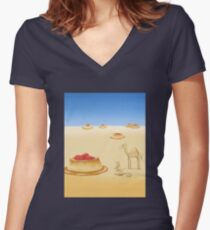 Desserts in the Desert Women's Fitted V-Neck T-Shirt